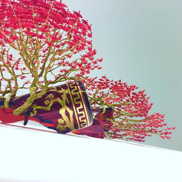 деревья бонсай из миниатюрных оригами