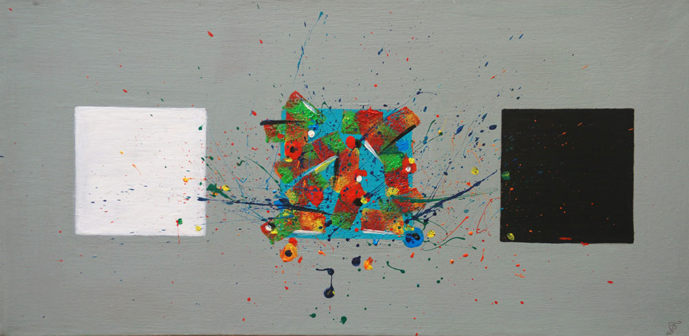 Картина Татьяны Соколовой «Оптимист, артист, пессимист»
