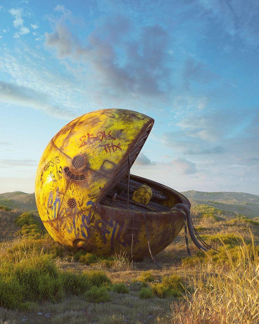 Постапокалиптический мир в работах Филиппа Ходаса