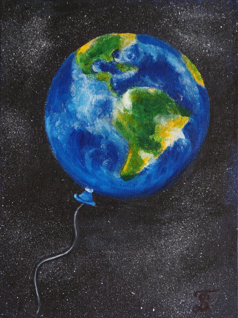 Картина Татьяны Соколовой «Жизнь на Земле»