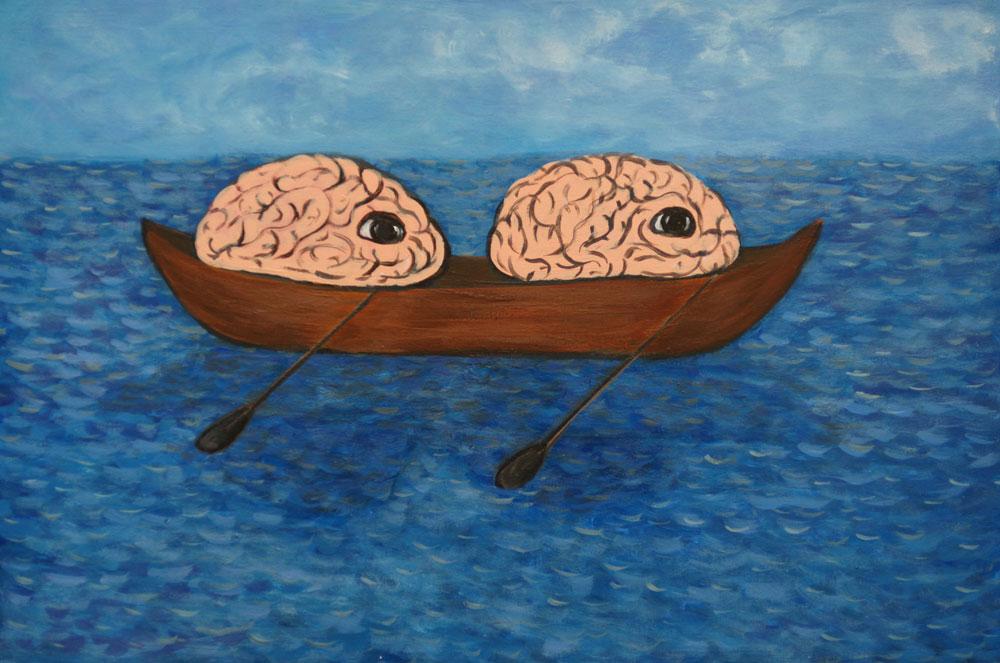 Картина Татьяны Соколовой «Мозги плывут»