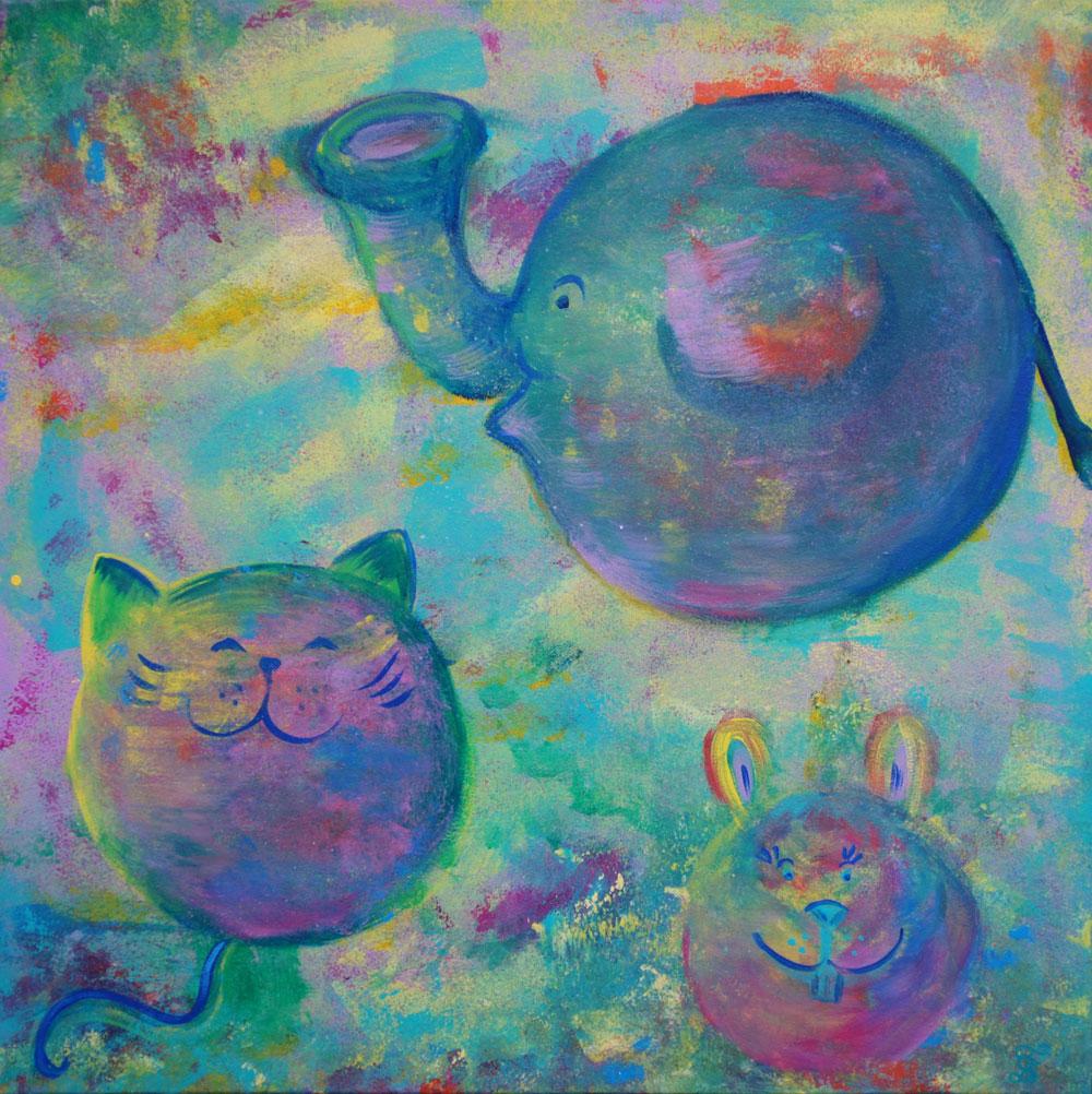 Картина Татьяны Соколовой «Планеты детства»