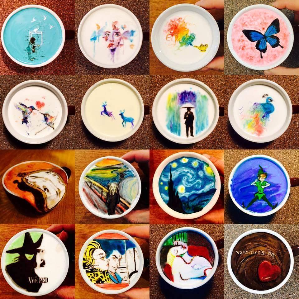 Картины в чашке кофе
