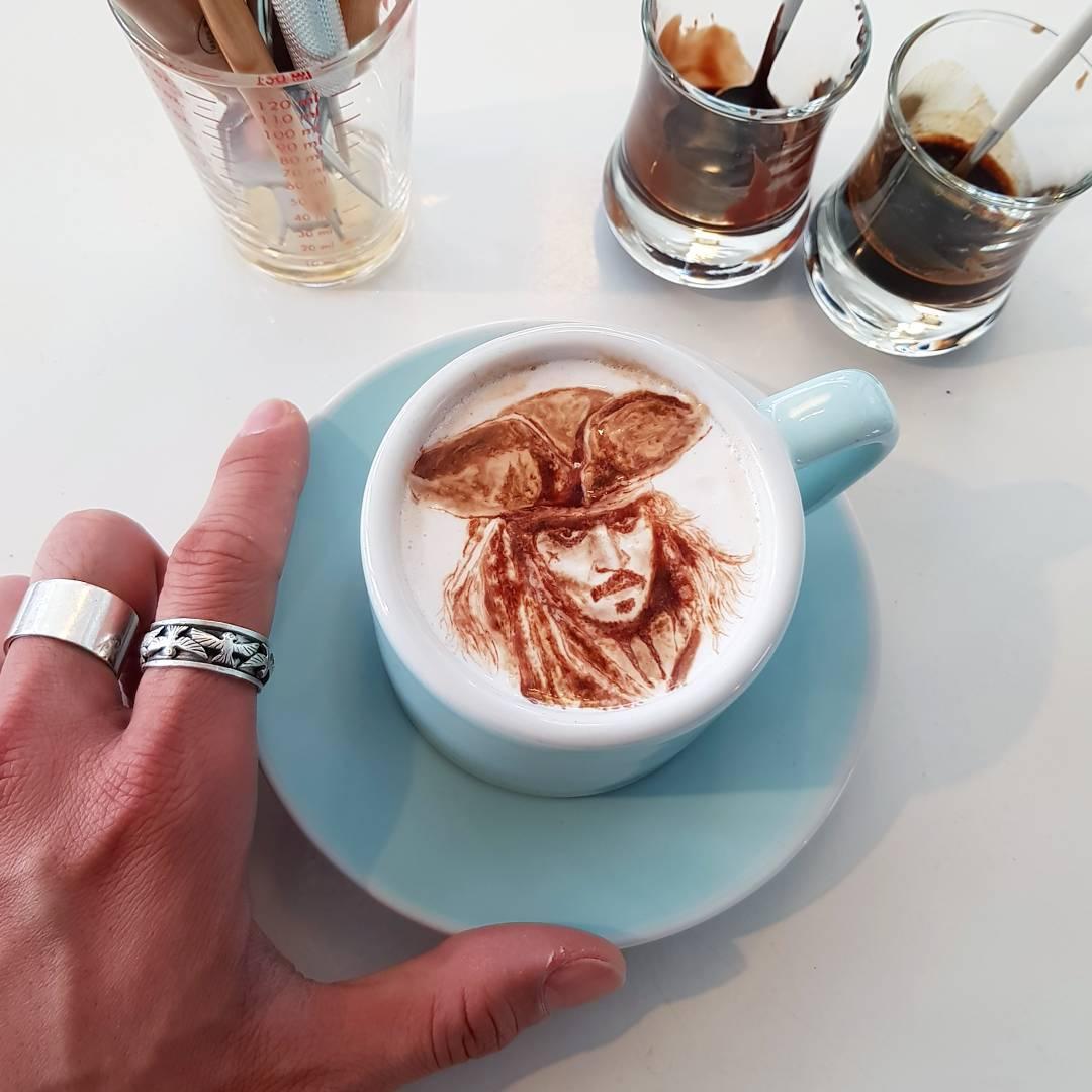 Живопись на кофе