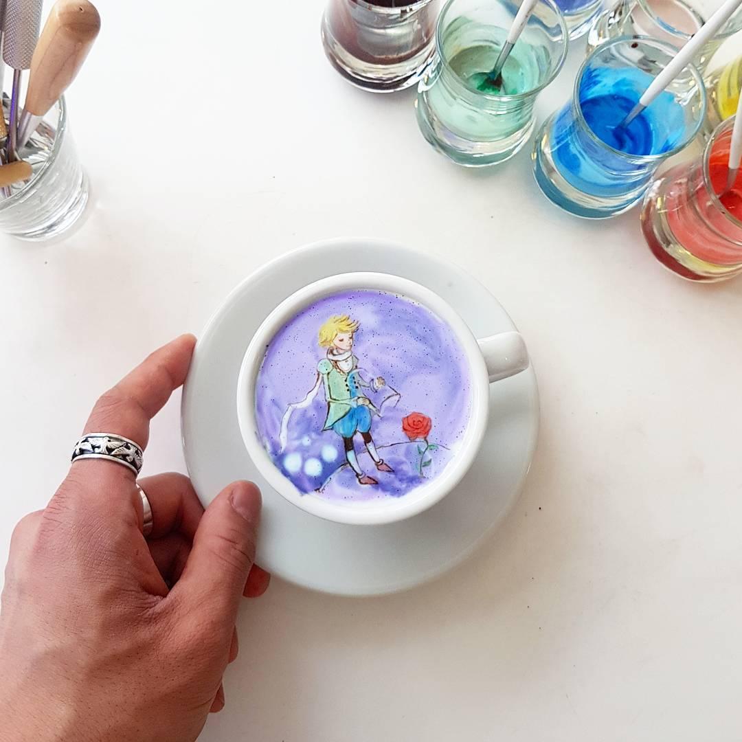Живопись на кофейной пене