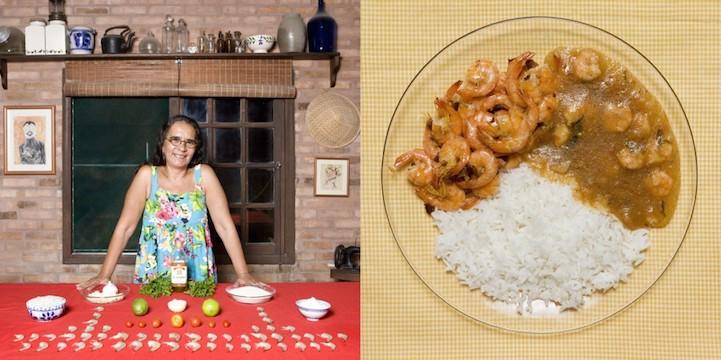 Чесночные креветки с рисом