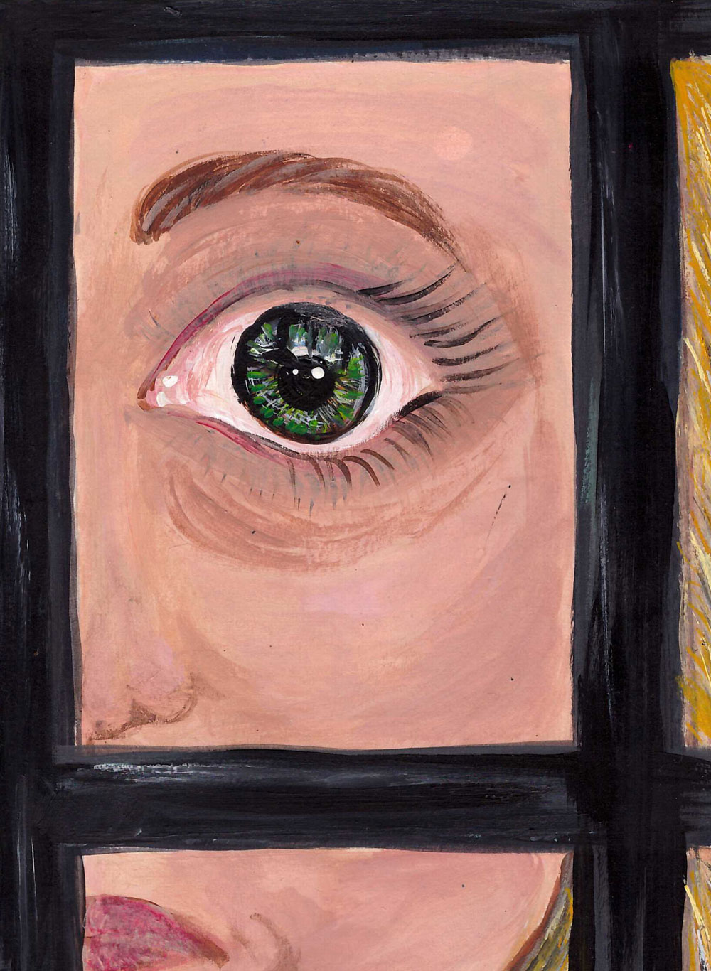 Картина Татьяны Соколовой «Из-за решетки»