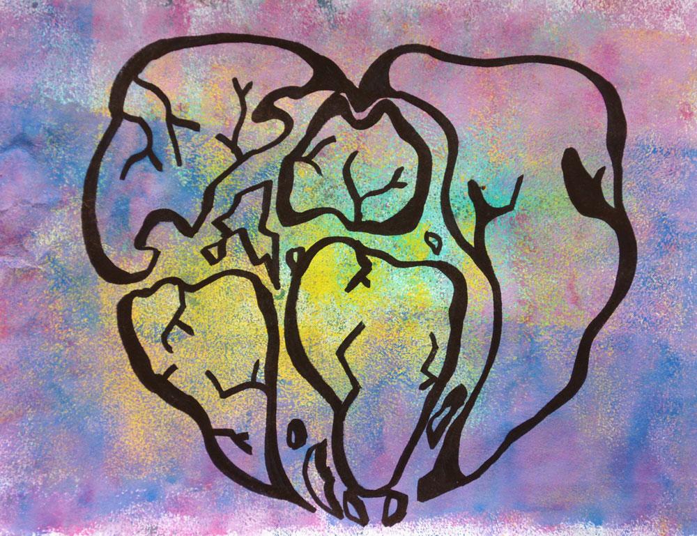 Картина Татьяны Соколовой «Сердце»