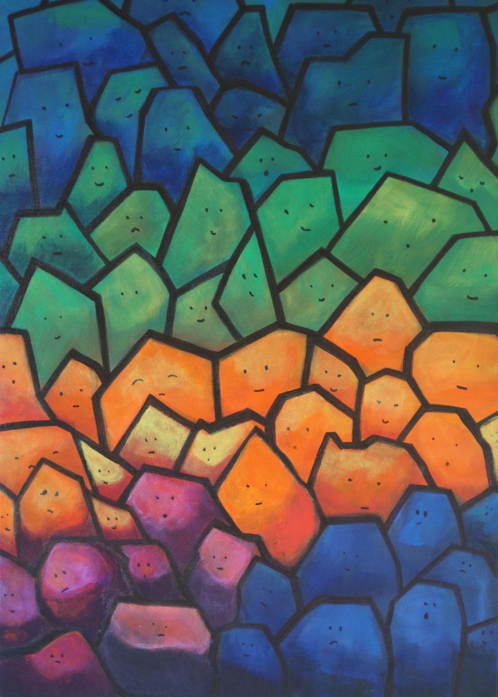 Картина Татьяны Соколовой «Толпа»