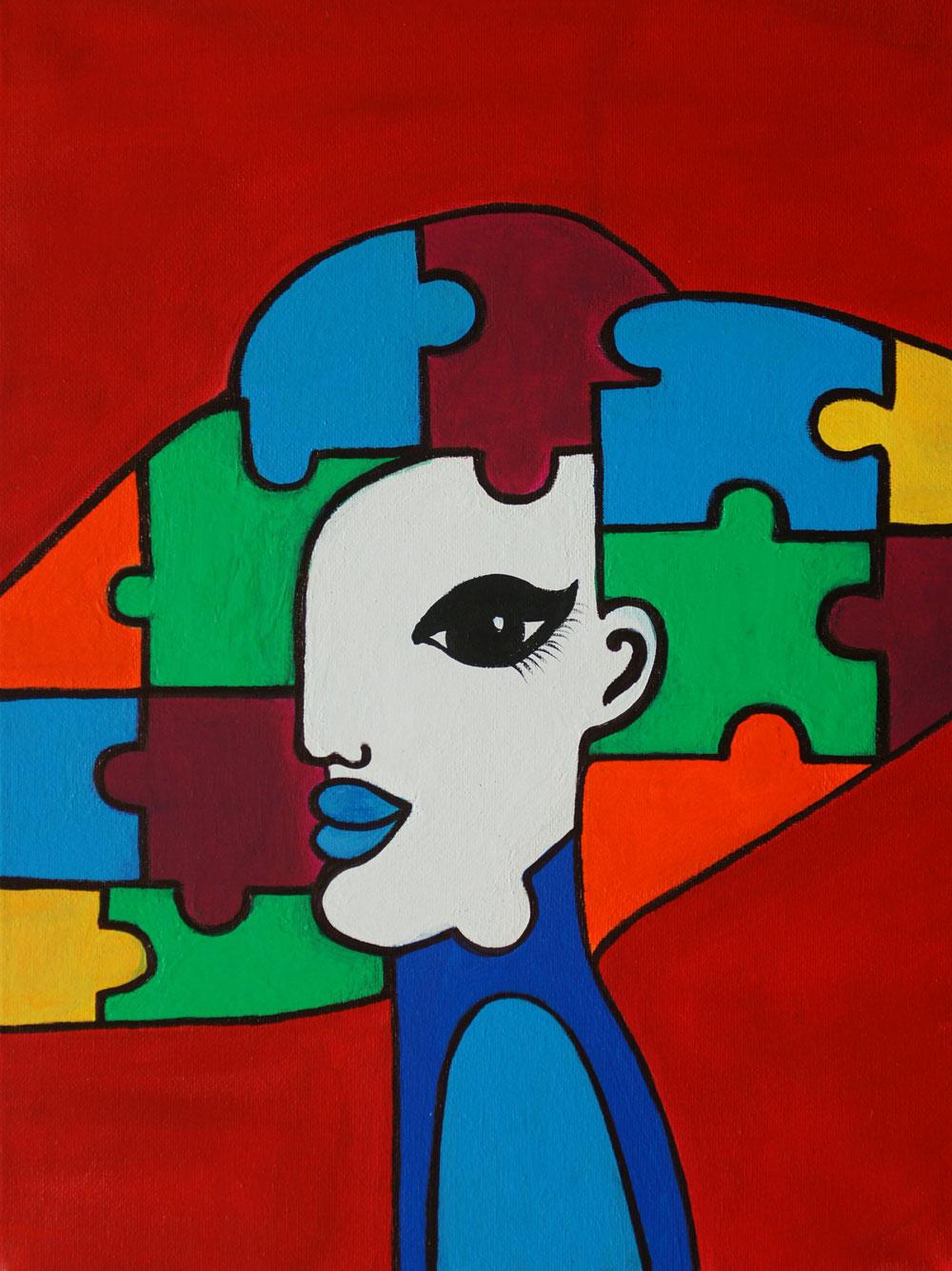 Картина Татьяны Соколовой «Женщина-загадка»