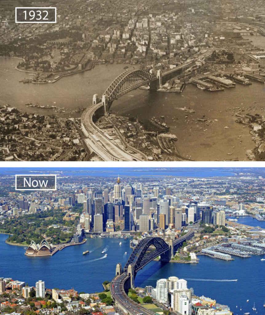 Сидней, Австралия, тогда и сейчас
