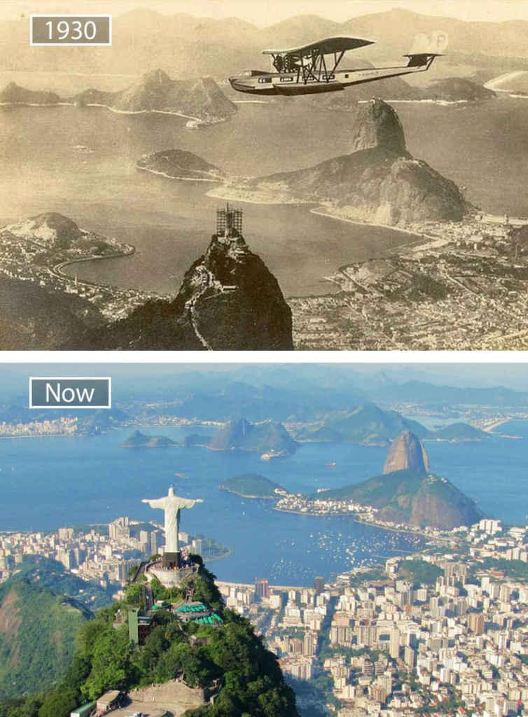 Рио-де-Жанейро, Бразилия, тогда и сейчас