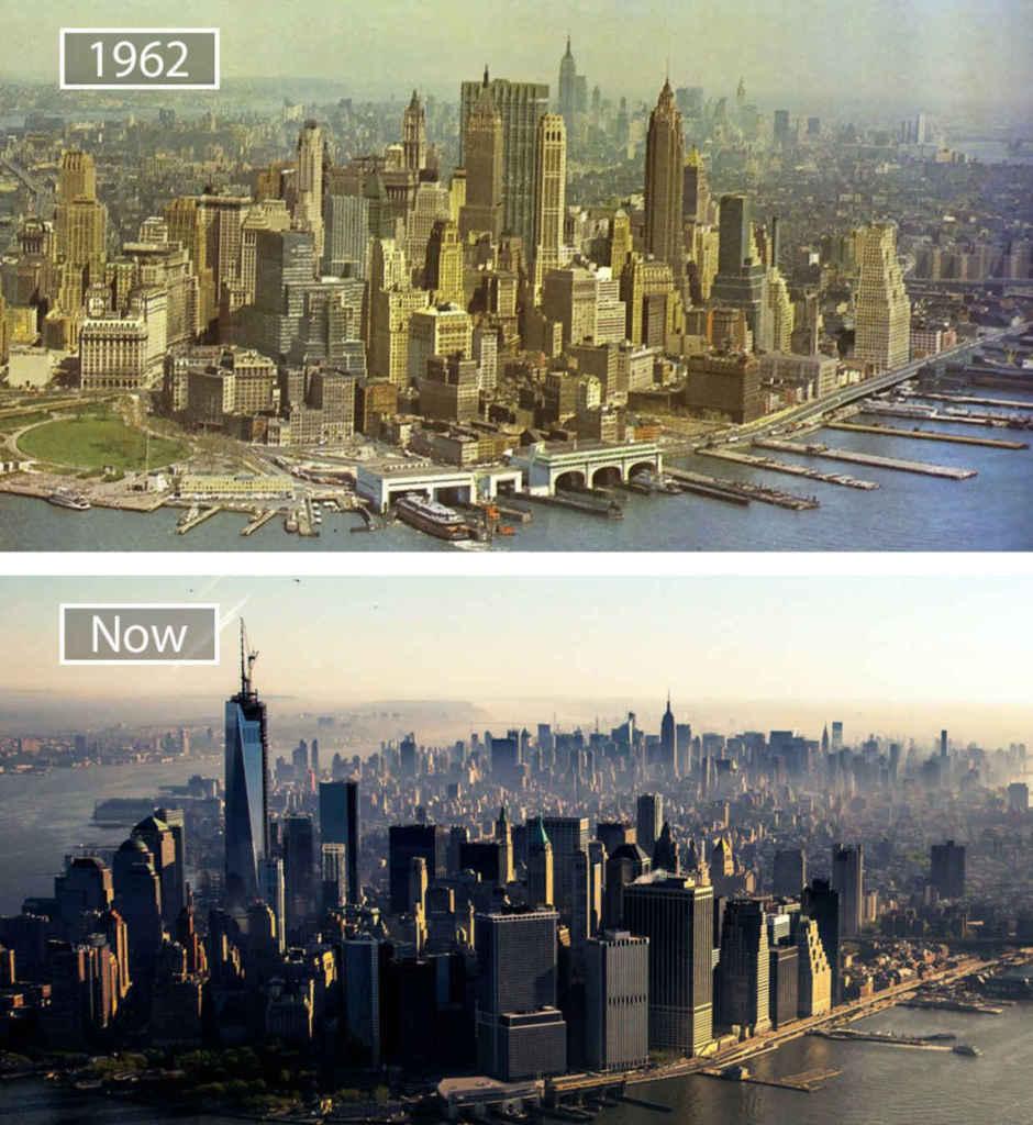 Нью-Йорк, США, тогда и сейчас
