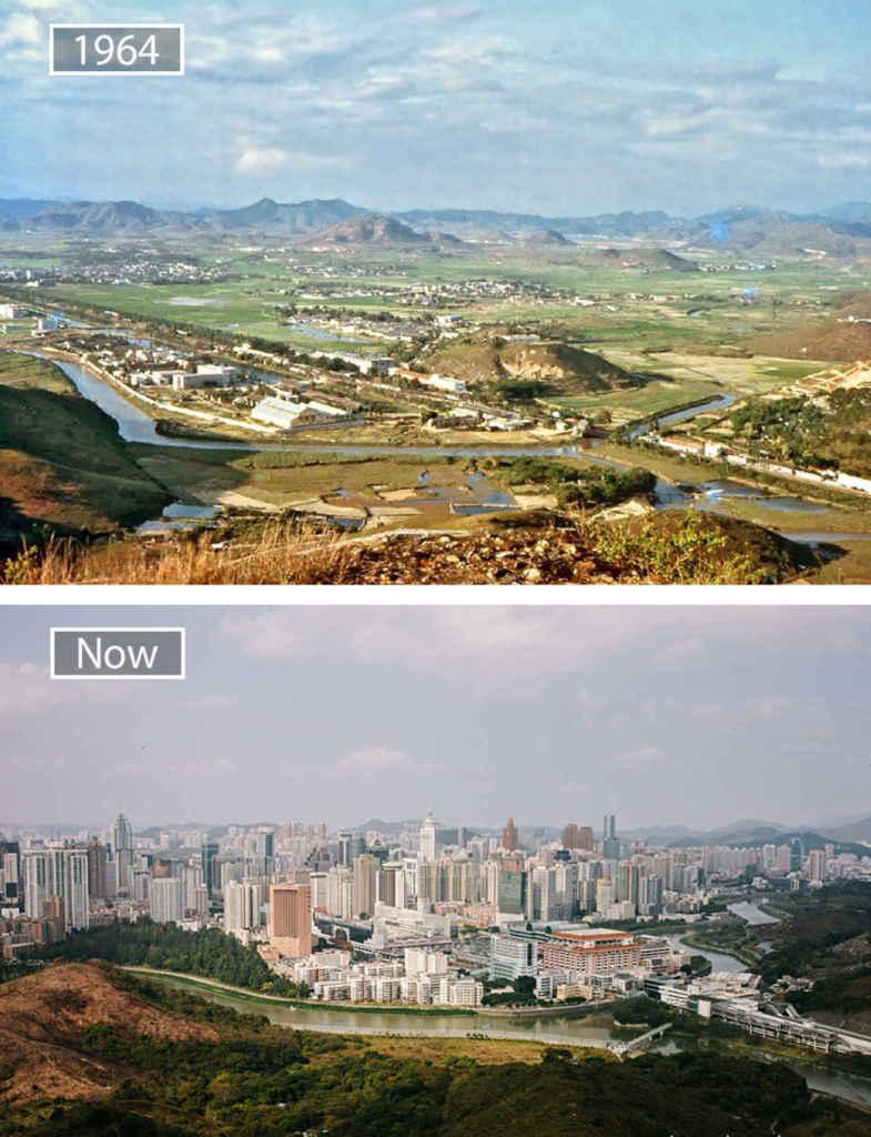 Шэньчжэнь, Китай, тогда и сейчас