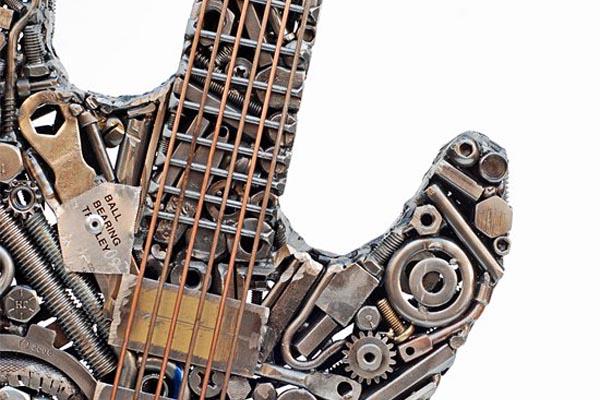 Оригинальные скульптуры из металлолома от Брайана Мока