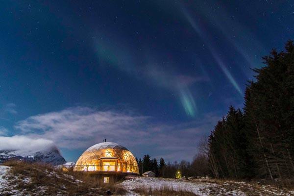 Уникальный жилой дом под куполом в Норвегии