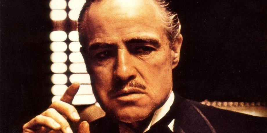 Марлон Брандо в роли Дона Вито Корлеоне в фильме «Крёстный отец»