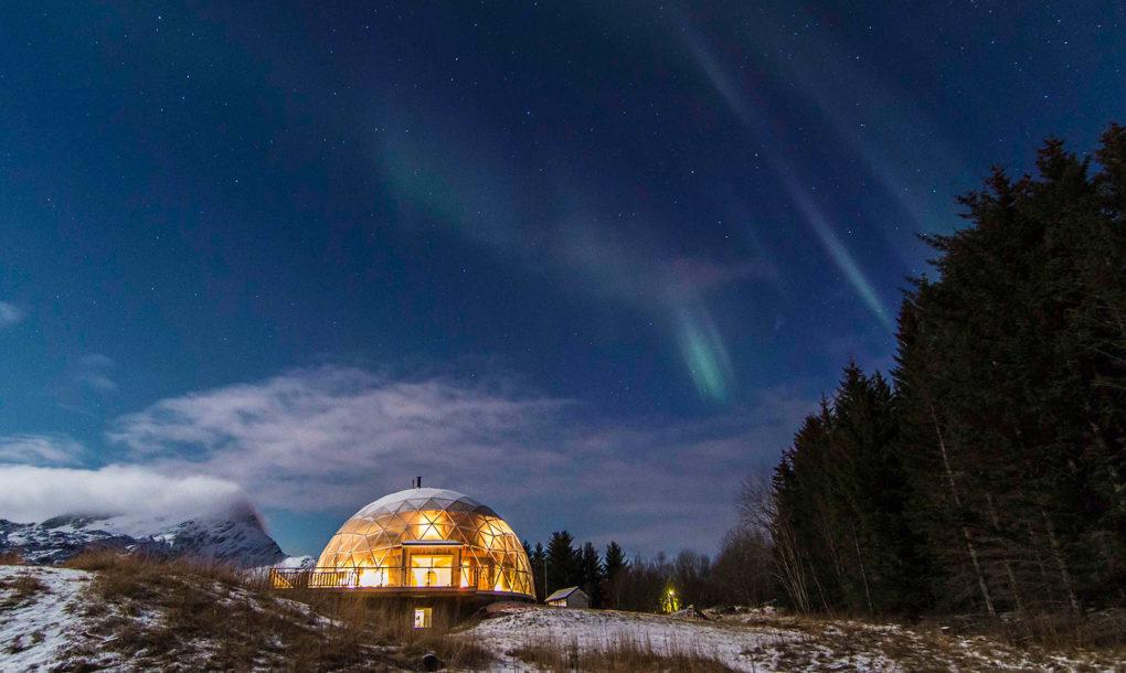 Nature House: уникальный жилой дом под куполом в Норвегии