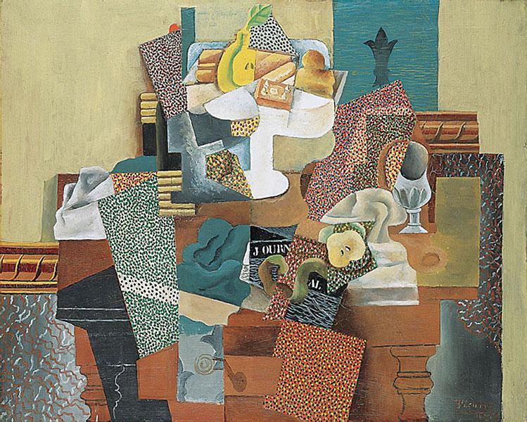 Картина Пабло Пикассо «Натюрморт с фруктами на столе»