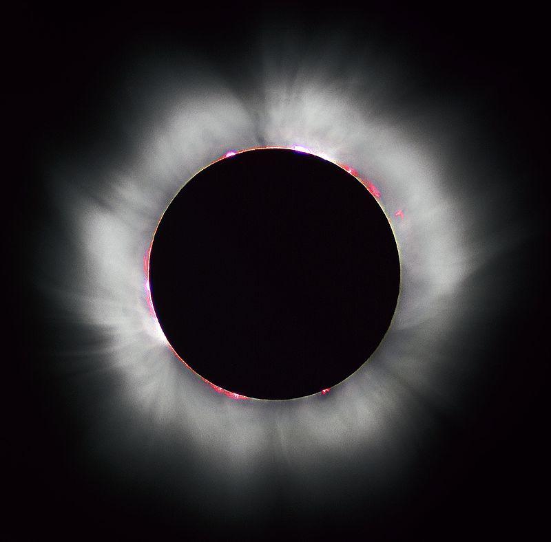 Солнечная корона во время солнечного затмения, 1999 год