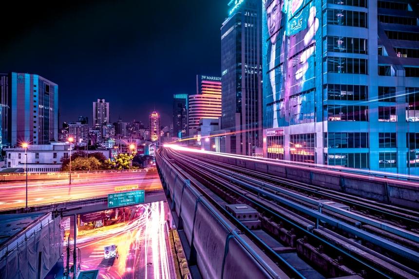 Ночной Бангкок в сияющих фотографиях Ксавьера Портелы