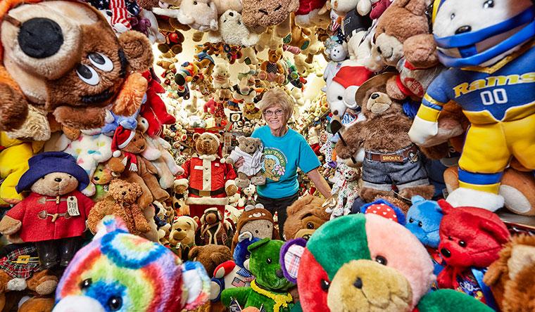 Самая большая коллекция плюшевых медведей