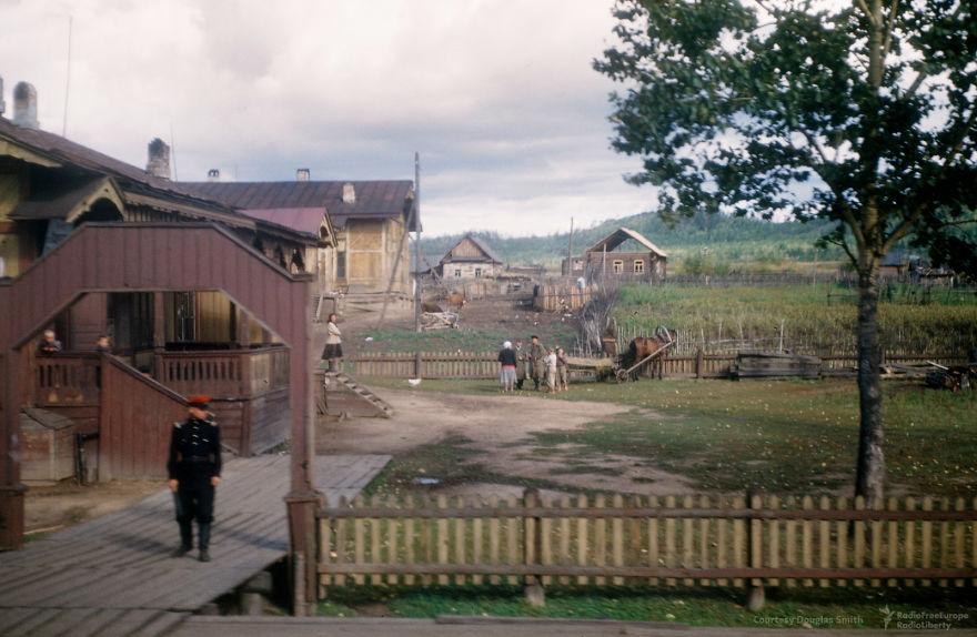 Советская глубинка. Вид из окна поезда