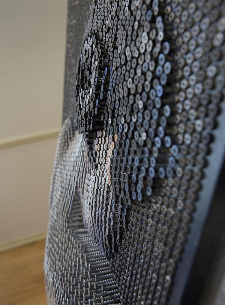 3D-произведения из шурупов от Брюса Маккли