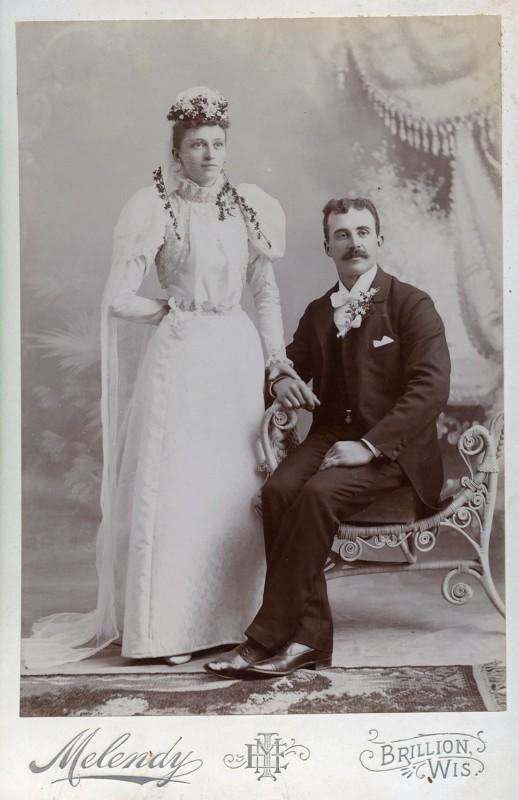 Свадебные фотографии конца XIX века