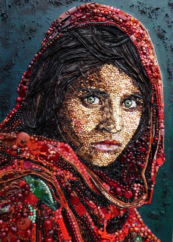 Портреты из бусин. Автор Джейн Перкинс