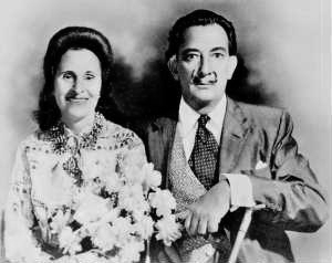 Сальвадор Дали и Гала Элюар (Елна Ивановна Дьяконова), 1958 год