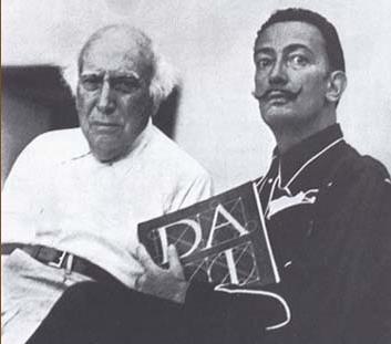 Сальвадор Дали с отцом, 1948 год