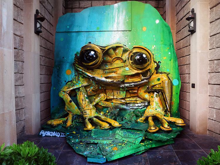 Произведения из отходов, обращающие внимание на загрязнение окружающей среды. Художник Bordalo II
