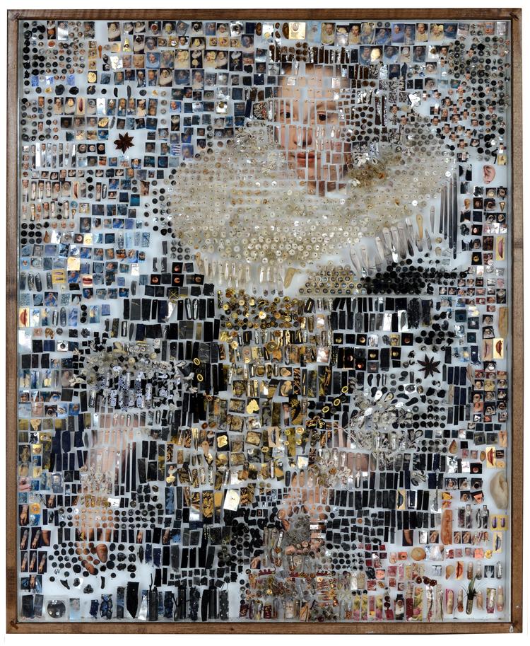 Портреты из различных деталей. Автор Майкл Мэйпс