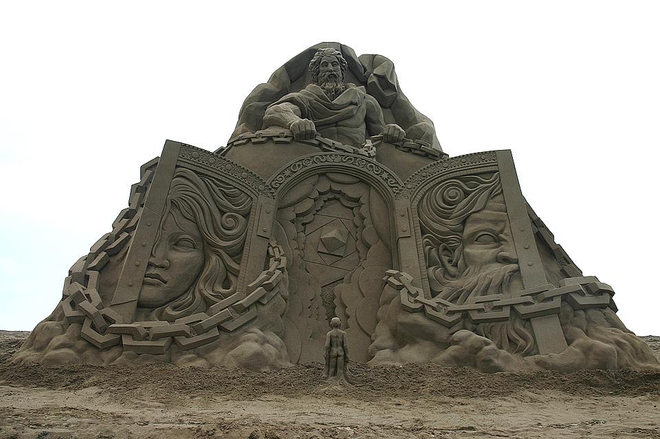 Скульптуры из песка. Автор Тошихико Хосаки