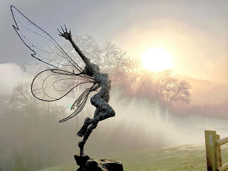 Скульптуры из проволоки. Автор Робин Уайт