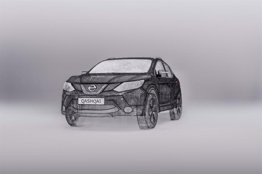 Копия Nissan, созданная при помощи 3D ручки 3Doodler