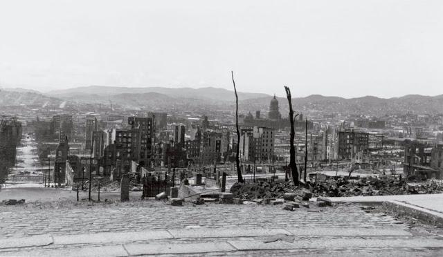 Руины после землетрясения в Сан-Франциско, 1906 год