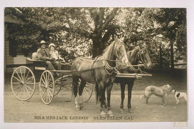 Джек Лондон со своей второй женой Чармиан