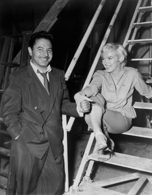 Сэм Шоу и Мэрилин Монро, за кулисами в студии 20th Century Fox