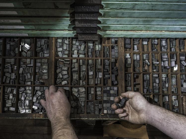 Рабочий типографии