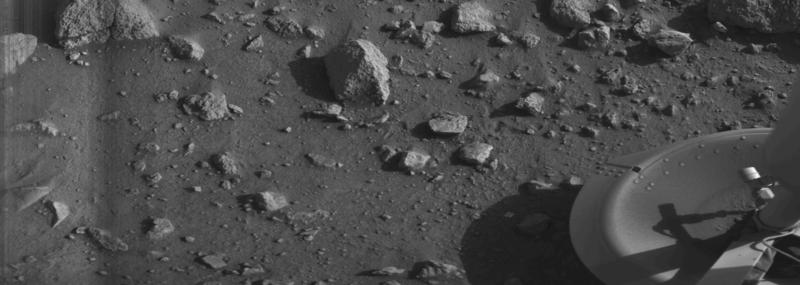 Первое изображение поверхности Марса, переданное станцией «Викинг-1», 1976 год