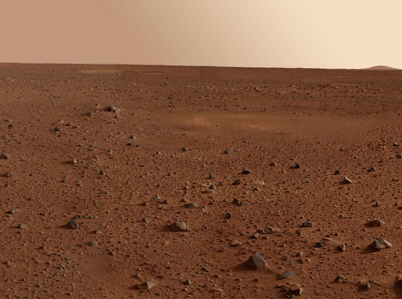 Панорамный снимок поверхности Марса, снятый в ходе программы Mars Exploration Rover