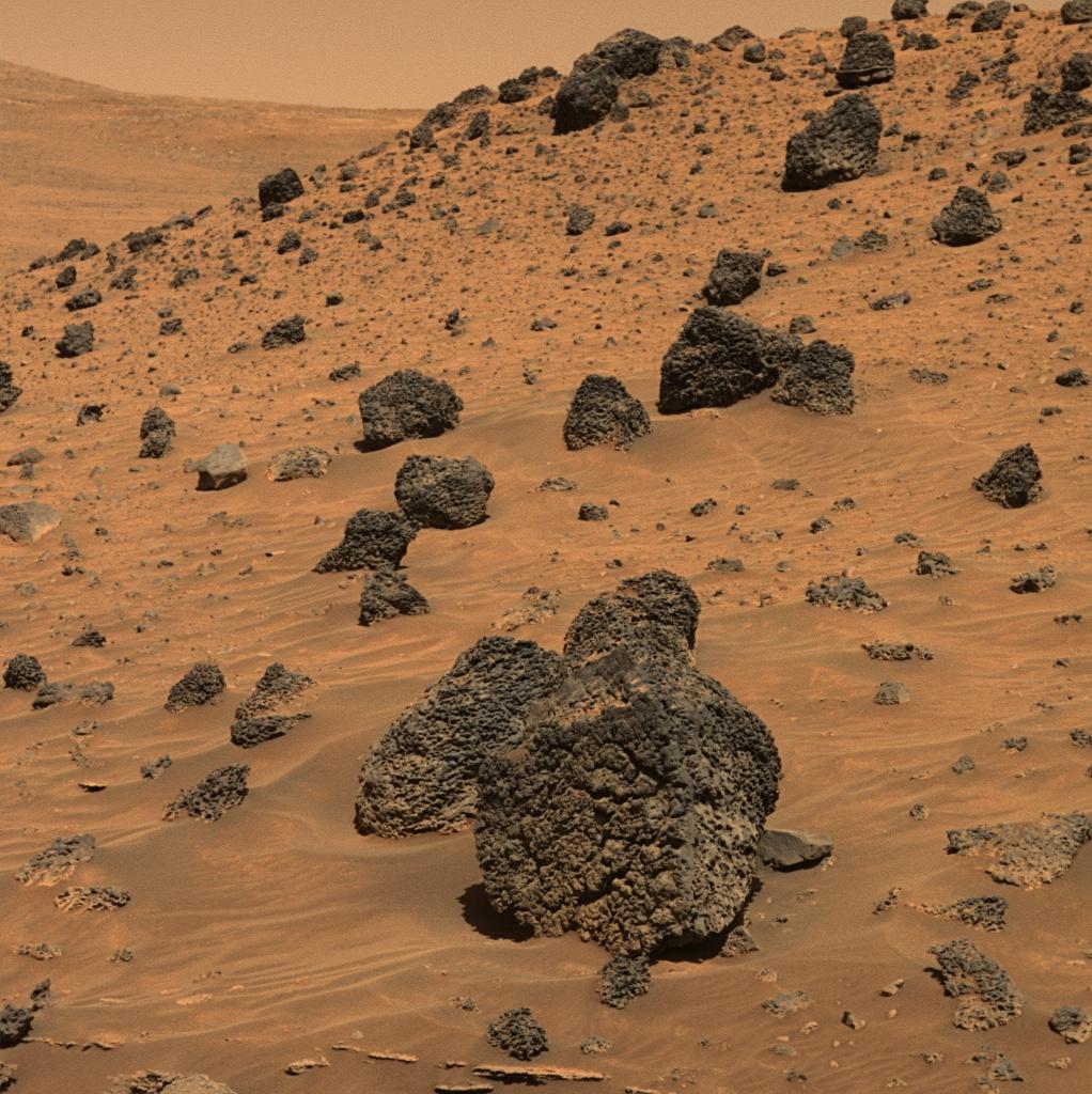 Вулканические породы на поверхности Марса