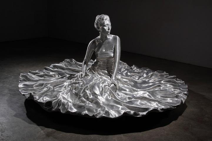 Впечатляющие скульптуры из проволоки от Сон Мо Пака