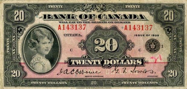 20 канадских долларов, возраст 8 лет