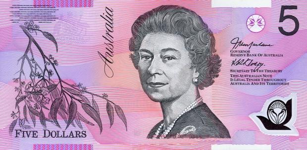 5 австралийских долларов, возраст 58 лет