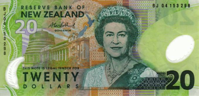 20 новозеландских долларов, возраст 60 лет
