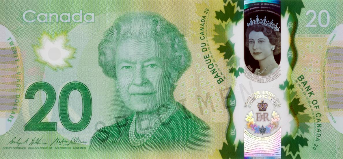 20 канадских долларов, возраст 85 лет