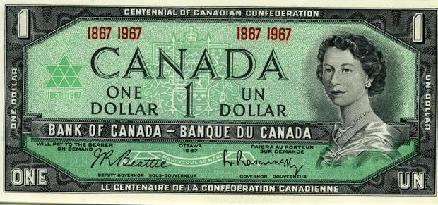 1 канадский доллар, возраст 25 лет